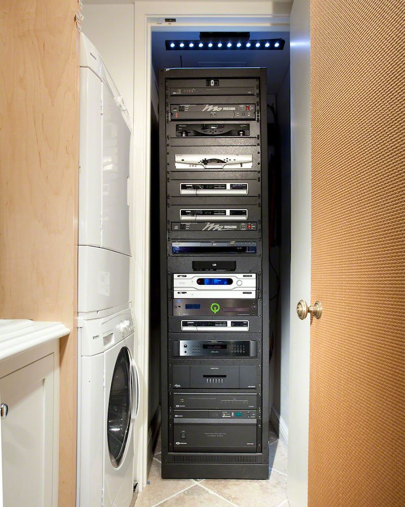 Main Switch Av Rack In Closet