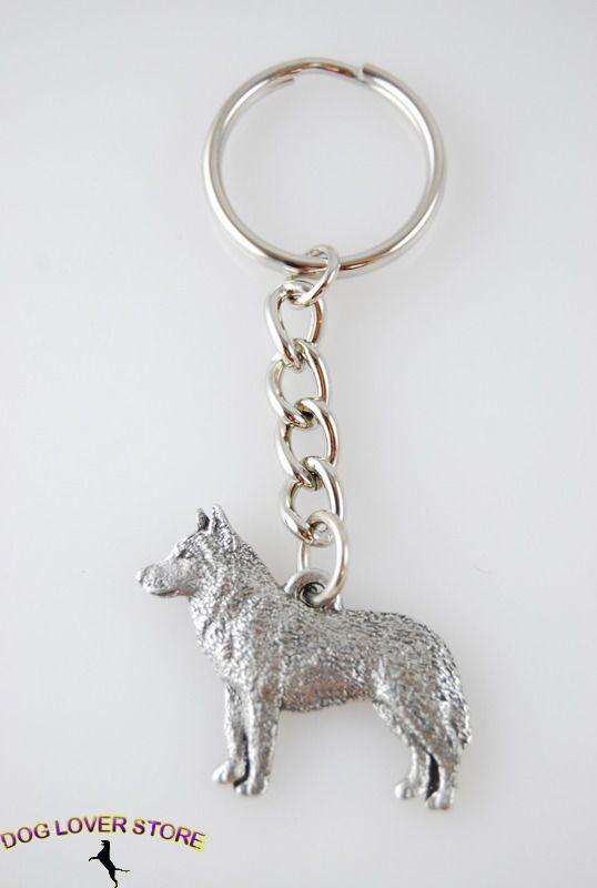 ROTTWEILER Dog Fine Pewter Keychain Key Chain Ring New