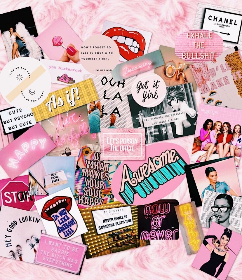 Vsco Briannaedmonds Pink Collage Trendy Tumblr In 2019