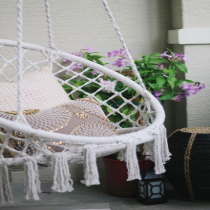 An indoor-friendly hammock chair that'll give hanging out a new meaning. Add a throw pillow and you'll never want to leave.