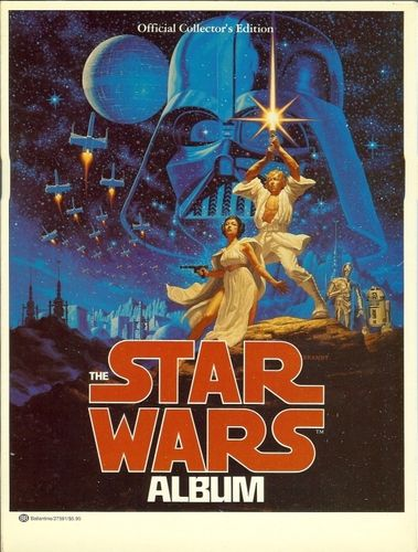 Publication: The Star Wars Album  Authors: uncredited Year: 1977-11-00 ISBN: 0-345-27591-8 [978-0-345-27591-2] Publisher: Ballantine Books  Cover: Greg Hildebrandt