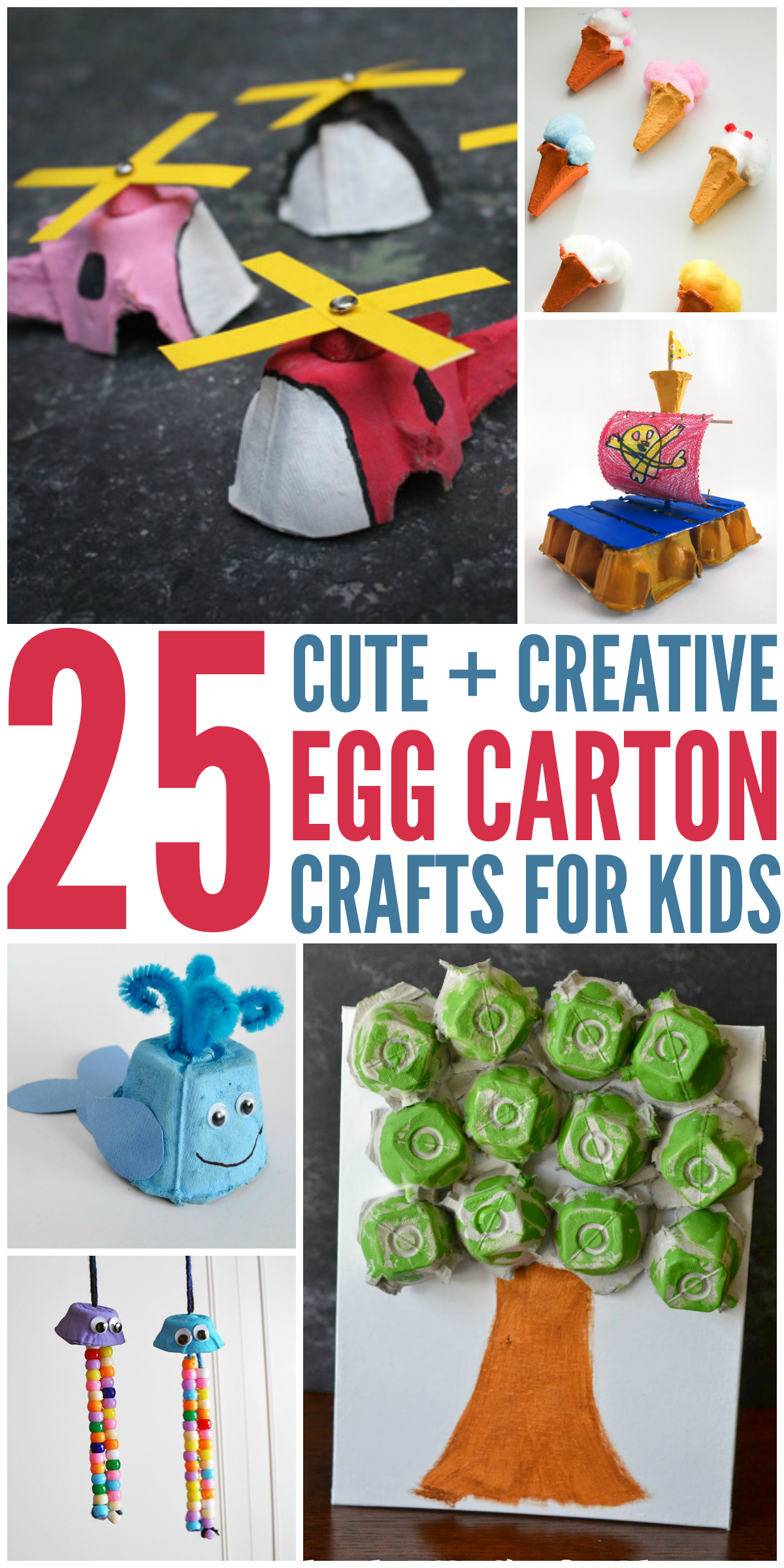 25 Cute And Creative Egg Carton Crafts Egg Carton Crafts Craft Activities For Kids Toddler Crafts