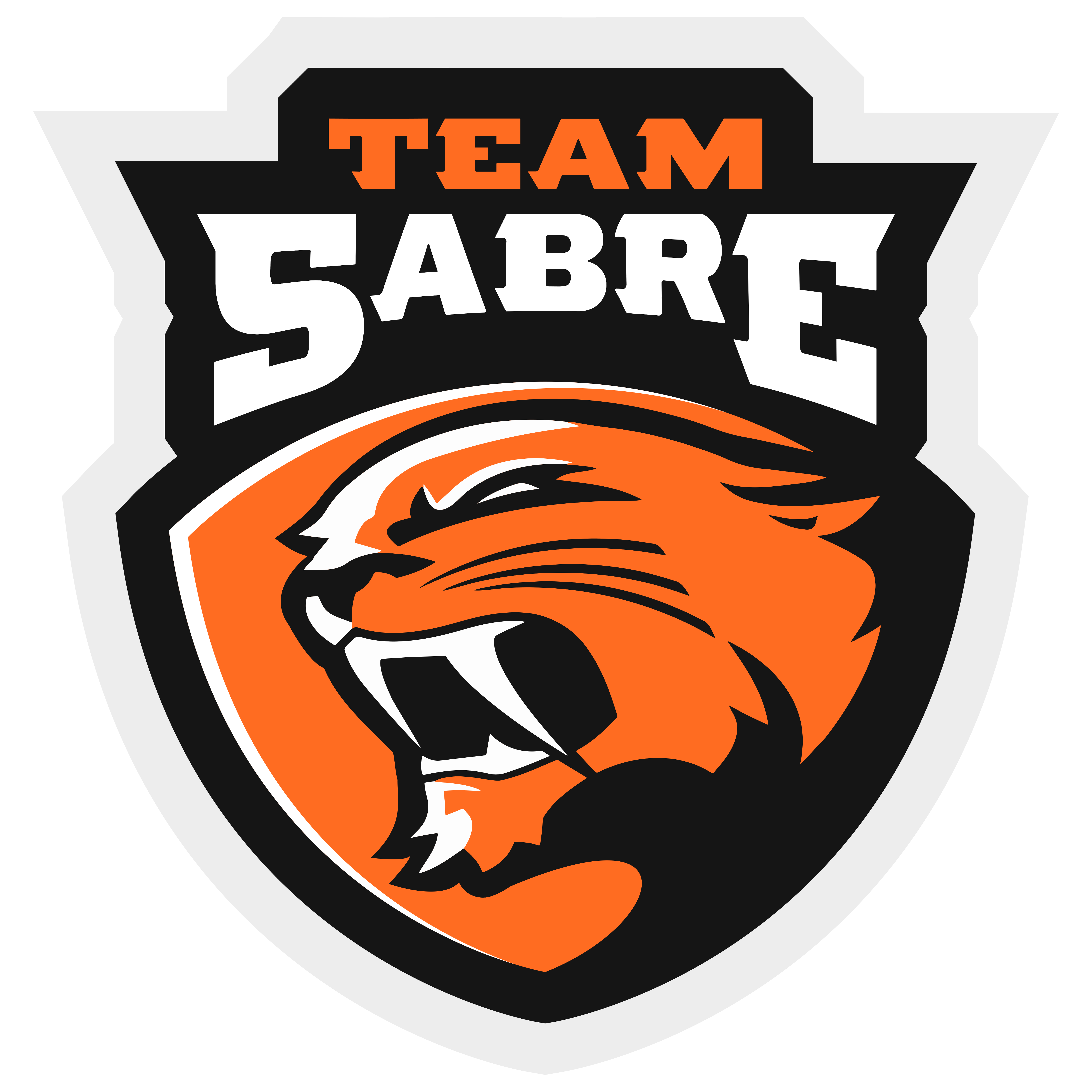Team Sabre Logo Transparent Escudo, Felino, Mascotas