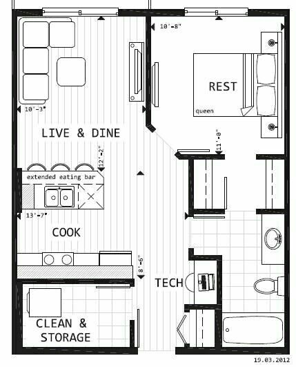 .floor plans-garage conversion   floor plans   Pinterest   Tiny houses,  House and Smallest house