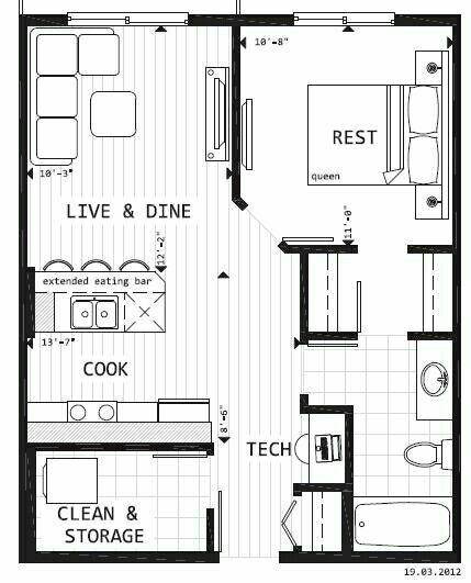 .floor plans-garage conversion   floor plans   Pinterest ...