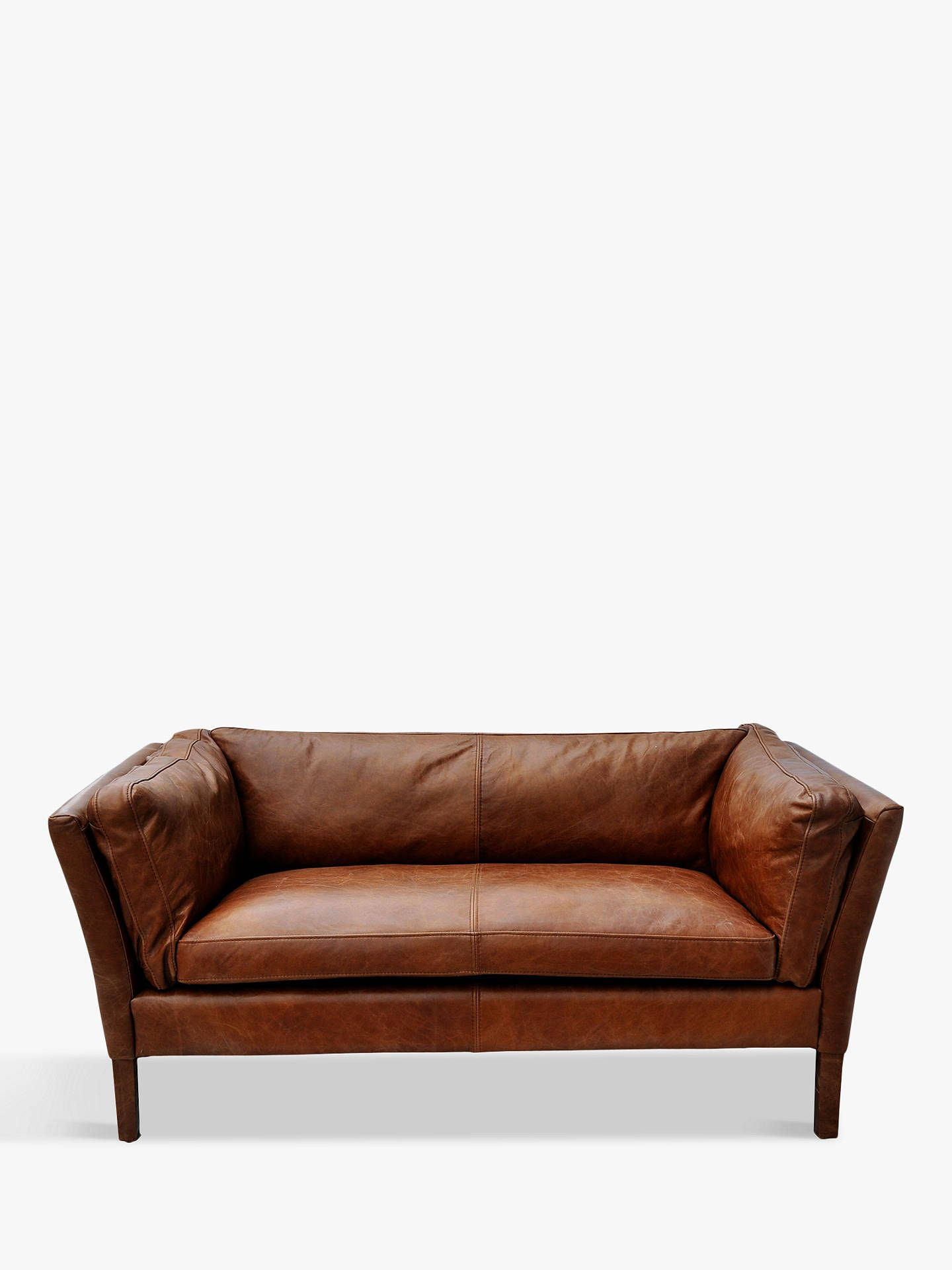 Halo Groucho Small 2 Seater Leather Sofa Antique Whisky In 2020 Brown Leather Sofa Leather Sofa Leather Armchair
