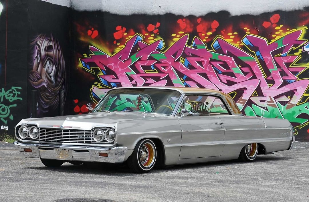 Classicnation Posted To Instagram 1964 Chevrolet Impala Lowrider On Dayton Wire Wheels Classicnation Instacar Ca In 2020 Retro Cars Classic Cars Lowrider Cars