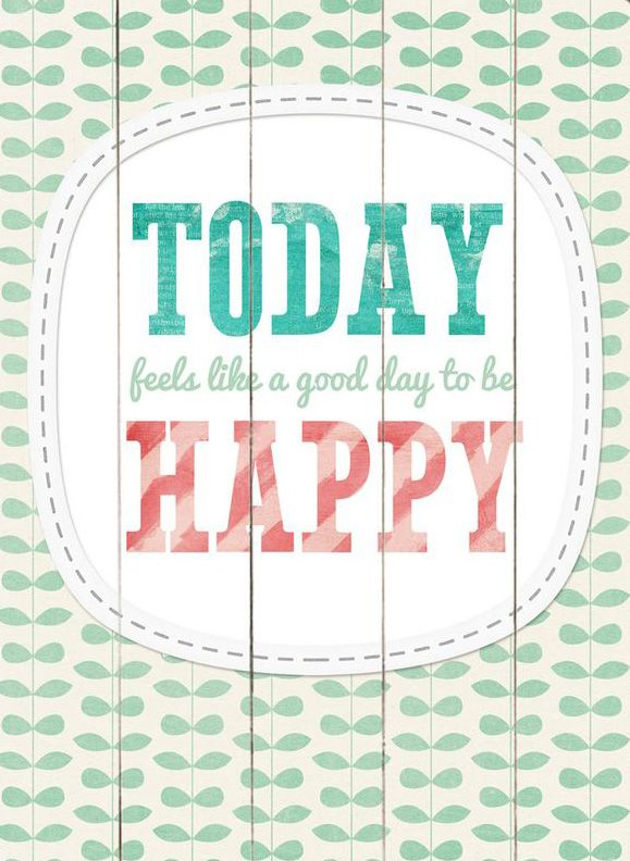 Today Feels Like A Good Day Wood Wall Art Canvas Quotes