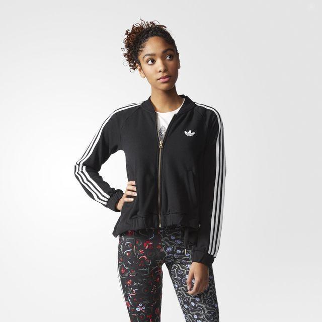 Adidas Originals Superstar Track Jacket Medium M Black Full
