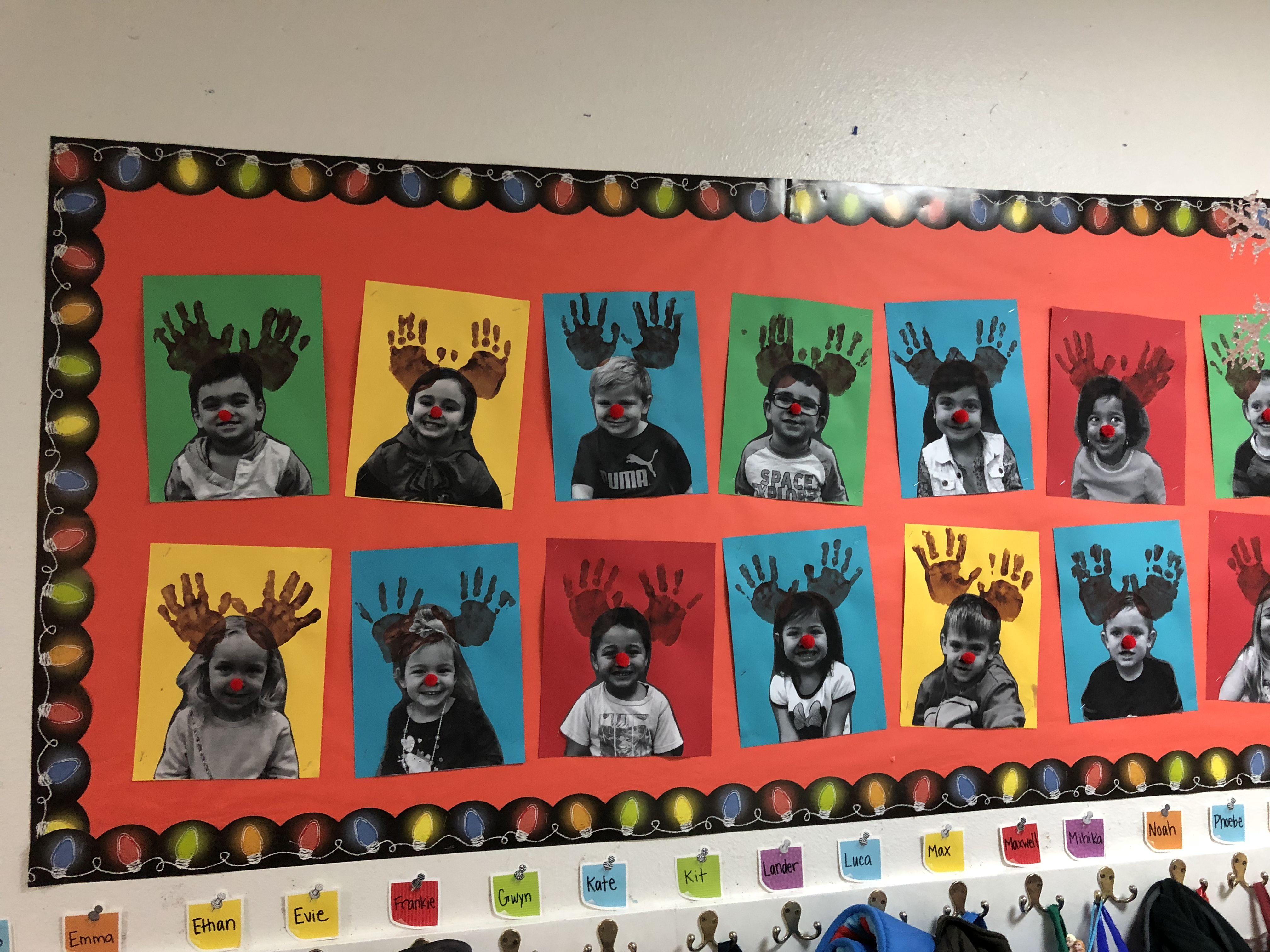 Rudolph The Red Nosed Reindeer Preschool Bulletinboard