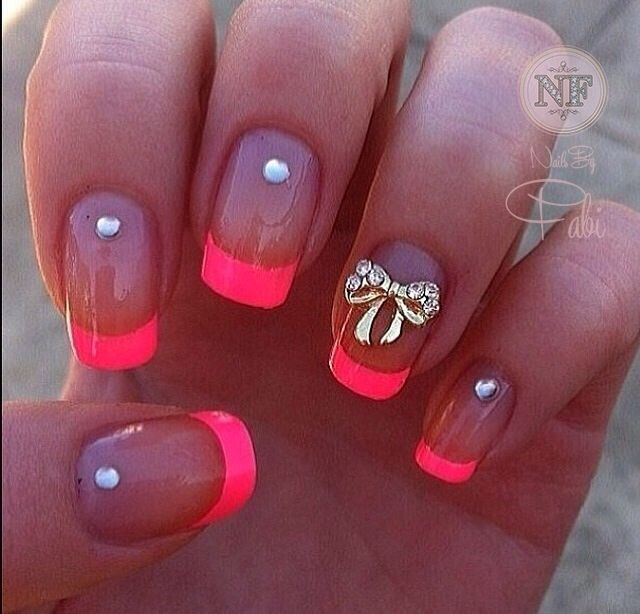 You Can Never Say No To Pink Heres A Cute Rhinestone 3d Bow Mani