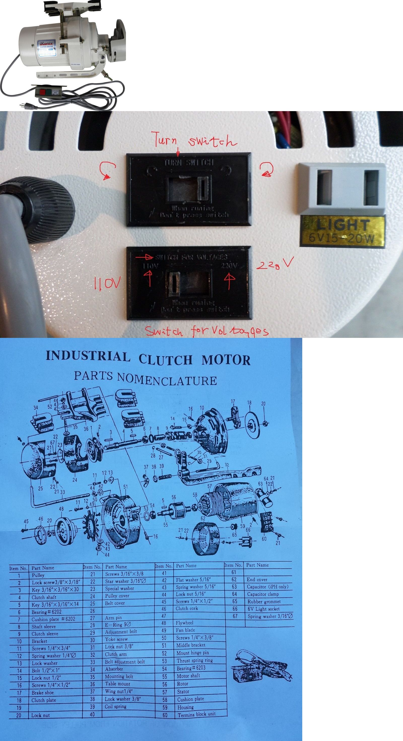 Machine Parts and Attachments 41248: Clutch Motor Industrial Sewing ...
