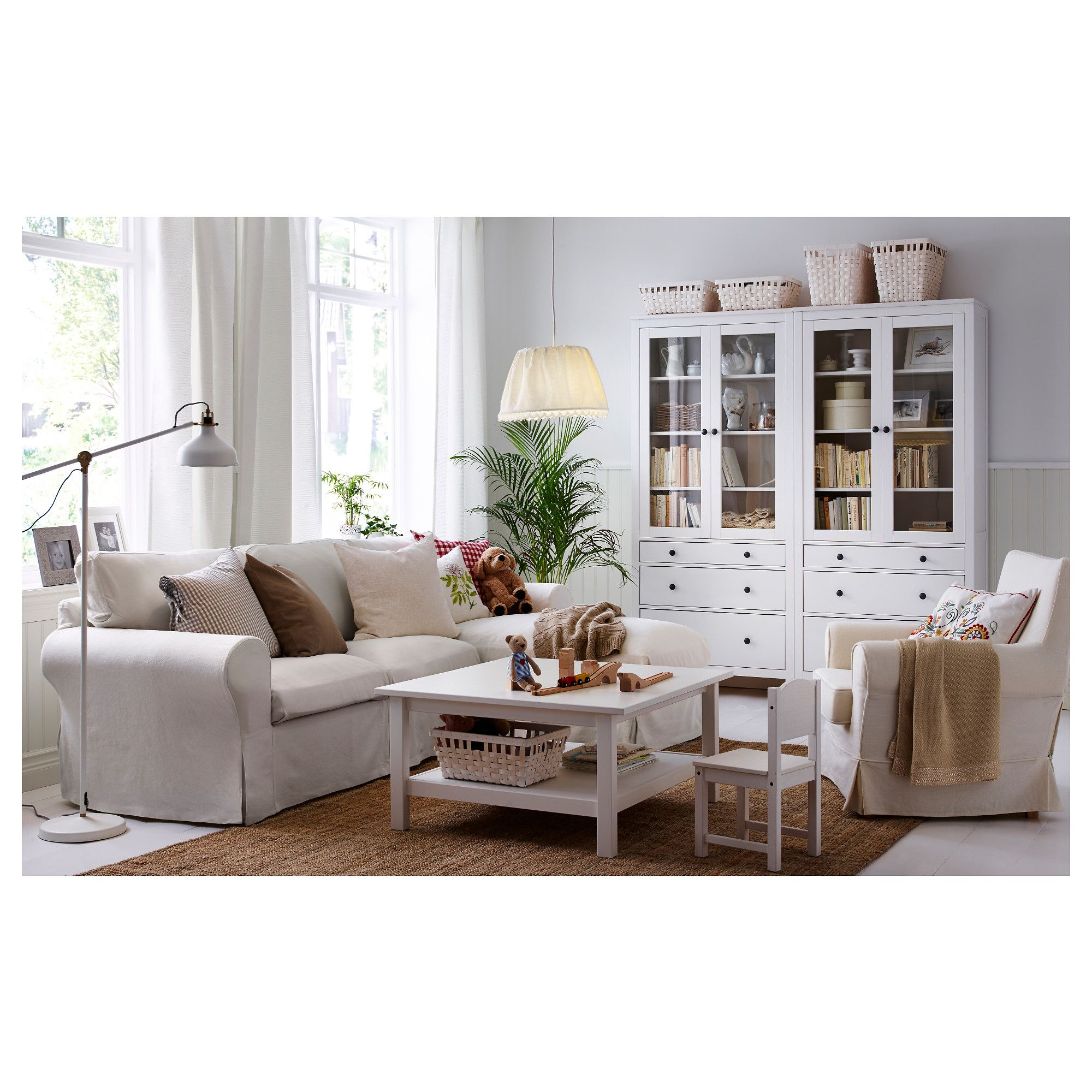 LOHALS Rug, flatwoven Natural IKEA | Jute, HEMNES and White stain