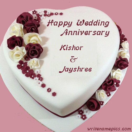 Successfully Write your name in image. Wedding