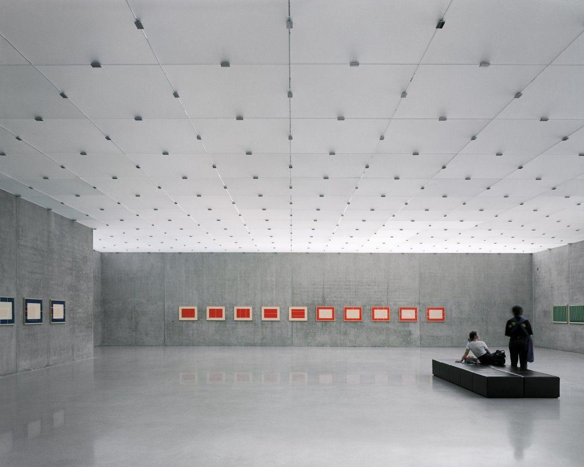 Interiors. Kunsthaus Bregenz Austria. Designed Peter Zumthor. 1997. Plan Unterhaus Vals