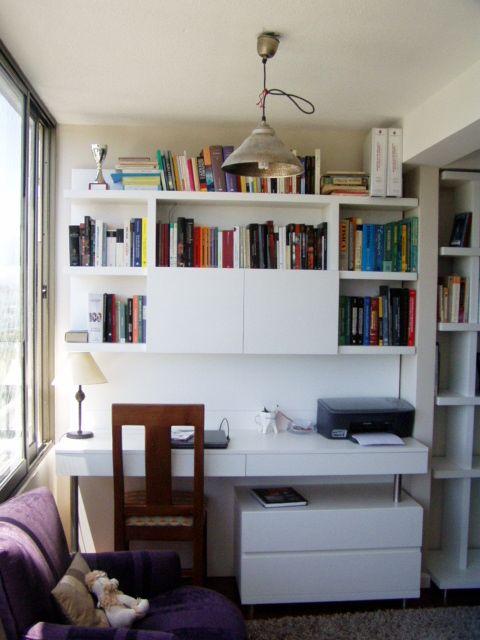 Librero enchapado escritorio enchapado sala de estar y for Muebles de oficina modernos argentina