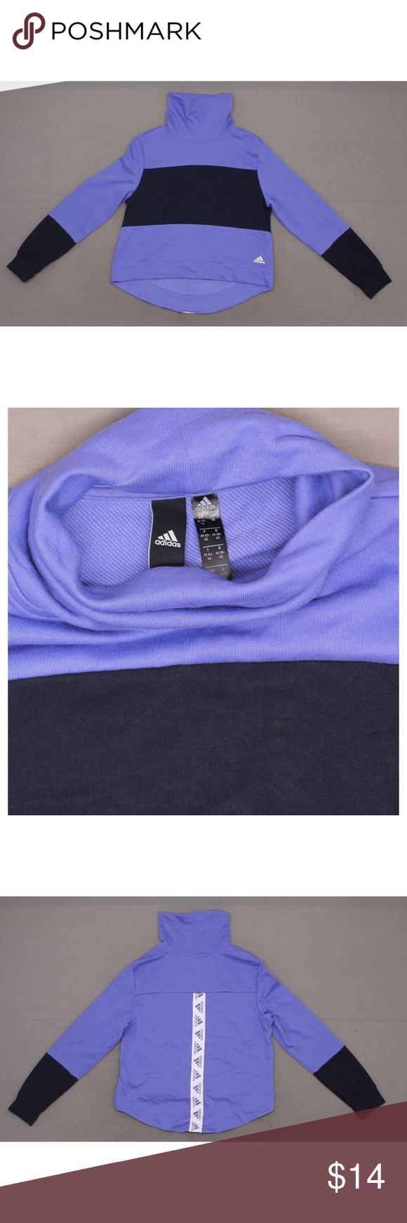 Adidas Sport 2 Street Cowl Neck Sweatshirt Medium Cowl Neck Sweatshirt Adidas Sport Adidas Women [ 1740 x 580 Pixel ]