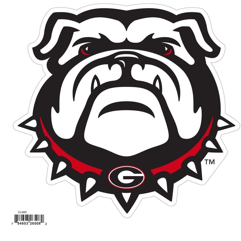 Ncaa Georgia Bulldogs 8 Inch Logo Magnets Georgia Bulldogs Bulldog Wallpaper Bulldog Mascot [ 1000 x 1000 Pixel ]