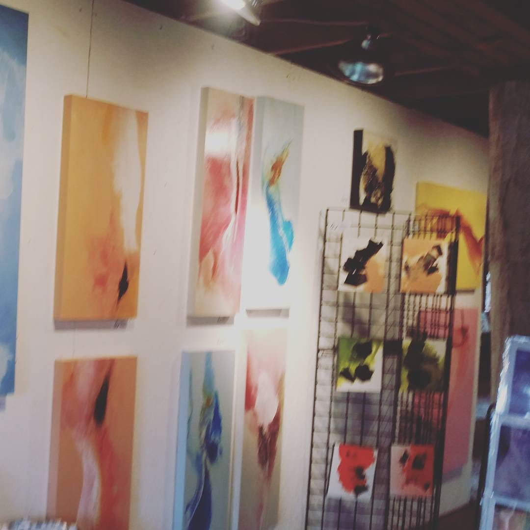Red door collective show art abstract contemporary d