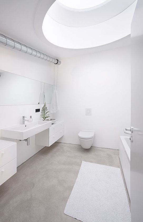 Jakob Bader Architecture White Bathroom Inspo Inspiration Bath
