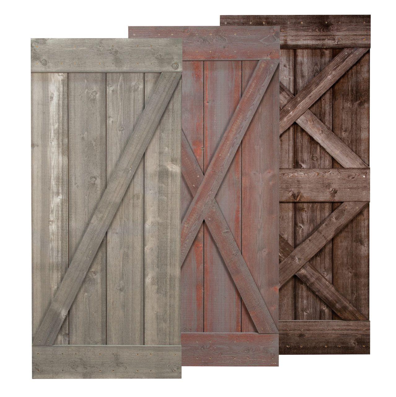 """Real Sliding Hardware - Weathered Barn Door (NEW!), $725.00 (http://www.realslidinghardware.com/weathered-rustic-barn-door/)""""....... Style door"""