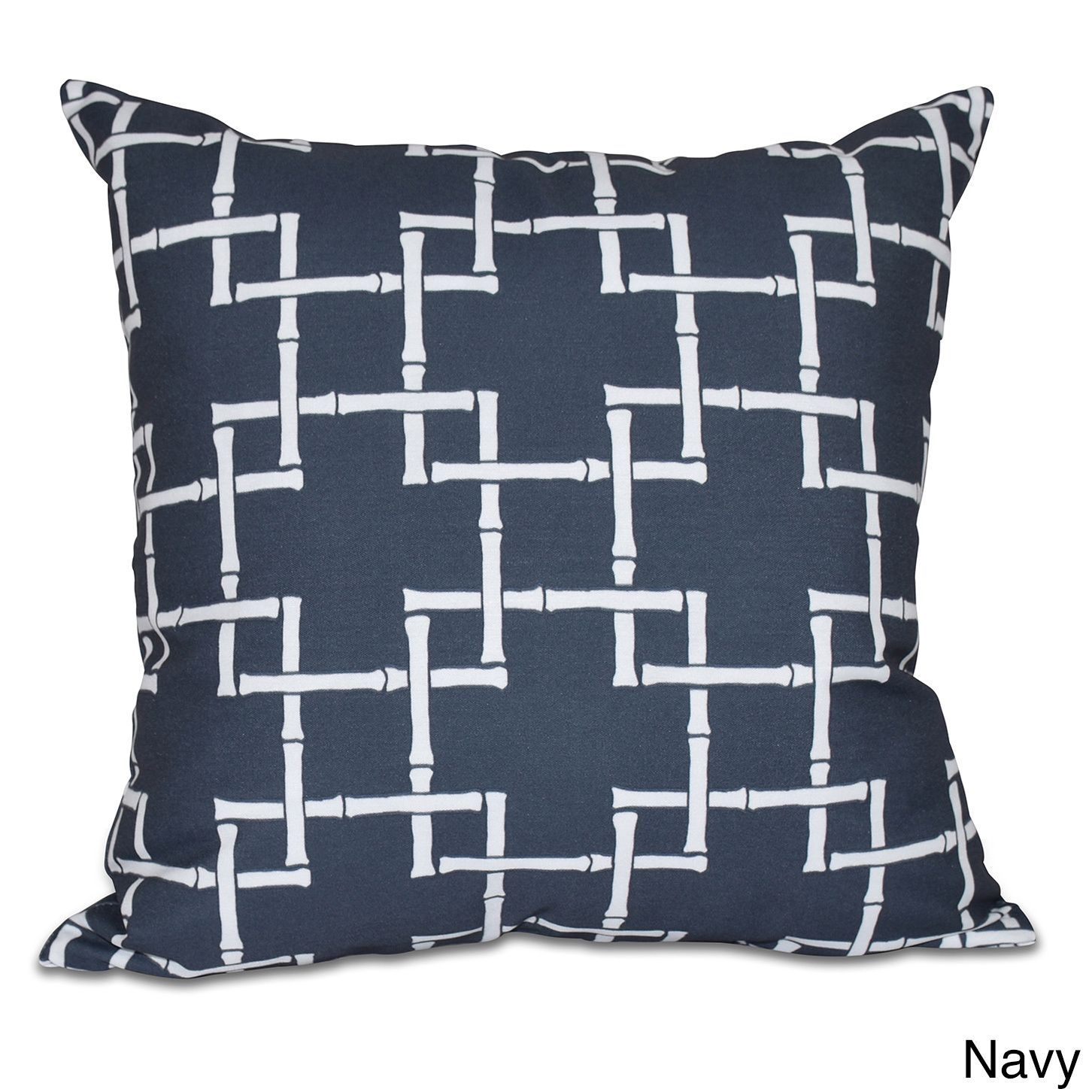 E by design bambies geometric print pillow blue polyester
