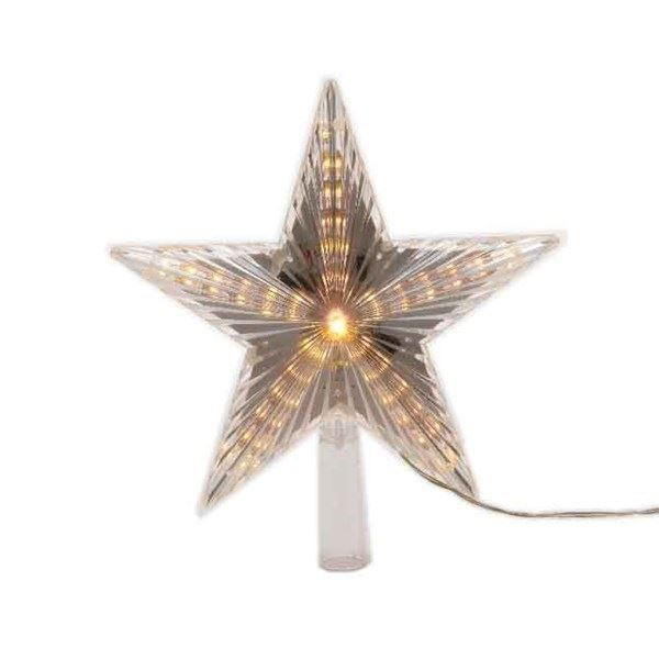22cm LED Star Christmas Tree Topper (Warm White) Trees, Warm and