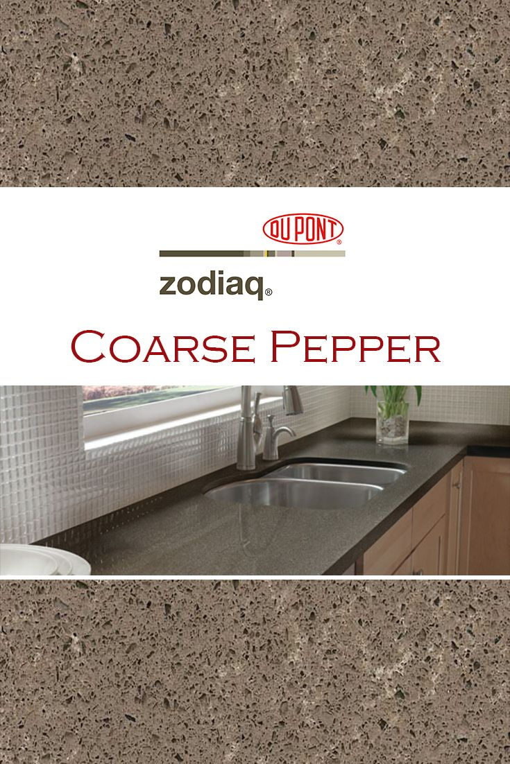 Coarse Pepper By Zodiaq Is Perfect For A Kitchen Quartz Countertop Replacement Quartz Kitchen Countertops Replacing Countertops Granite Countertops Kitchen