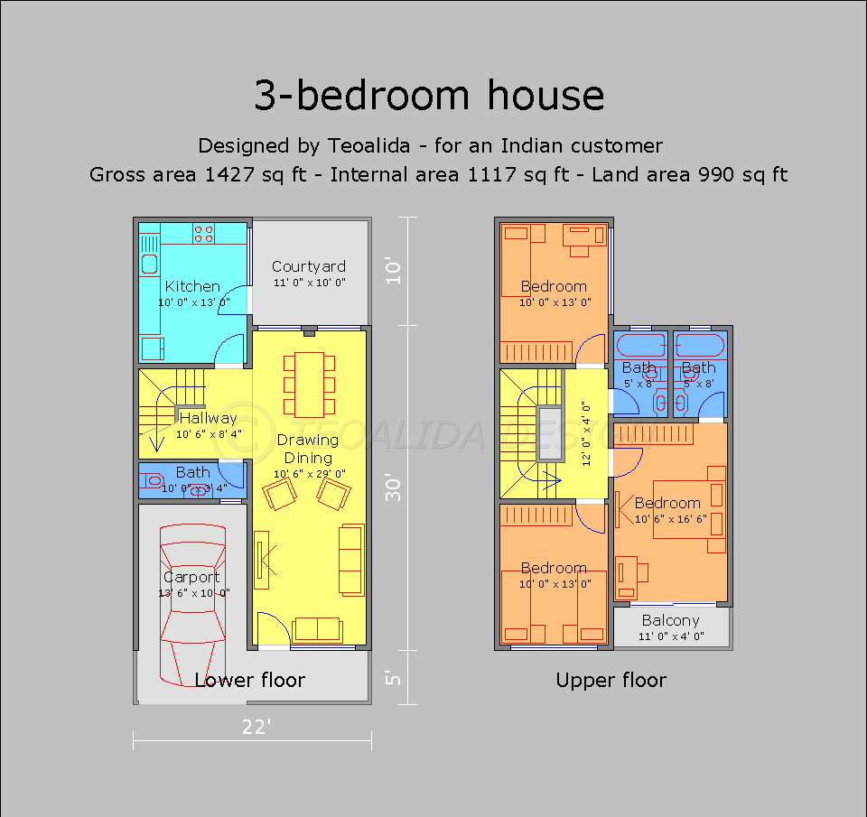 House Floor Plans 50 400 Sqm Designed By Teoalida: Image Result For Small House Plans 20x30