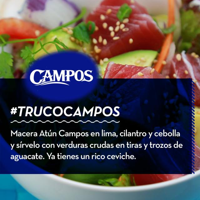 Ceviche de Atún Campos, un plato fresco, ligero y de sabor insuperable. Hazlo de la forma más sencilla con este #TrucoCampos.