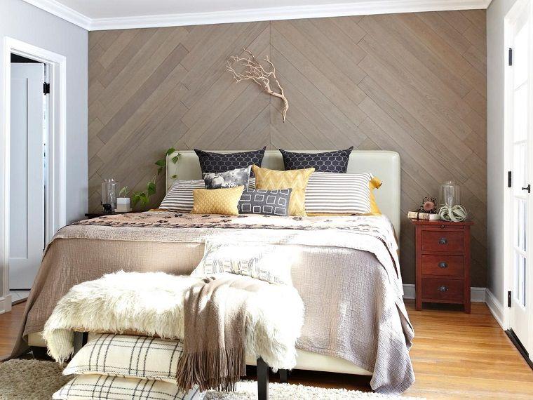 Decorazioni In Legno Per Pareti : Pannelli decorativi per pareti legno camera letto arredamento