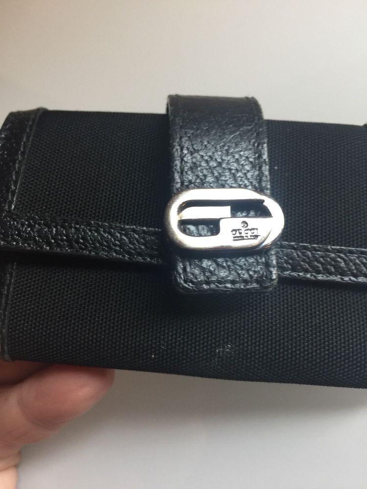 Gucci wallet signature 6 ring keychain black fashion