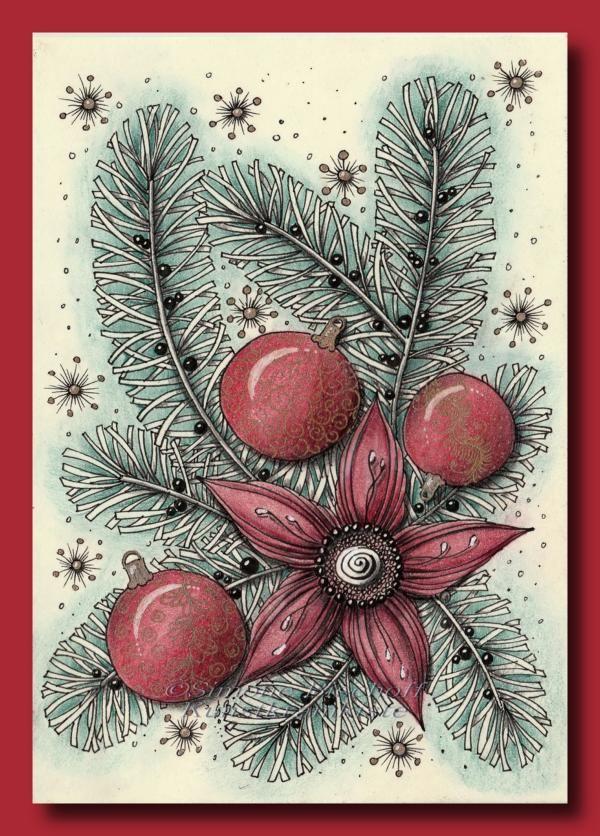 weihnachtskarten 2017  es zipfelt  weihnachten zeichnen