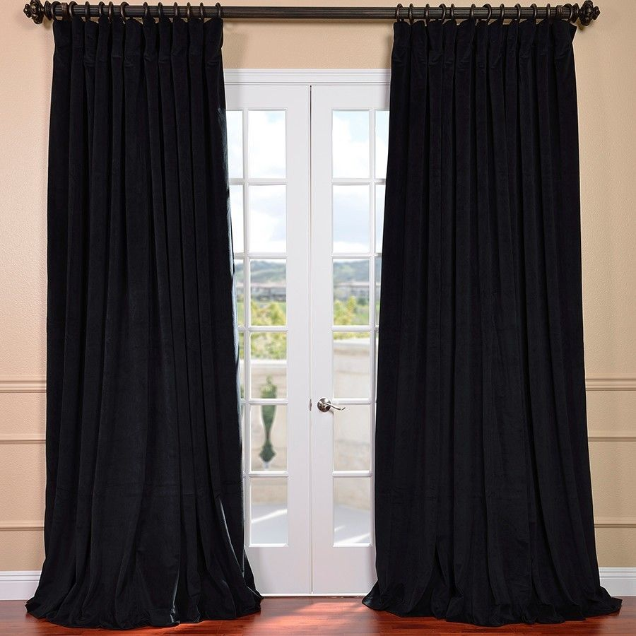 Double Wide Curtain Panels Half Price Drapes Signature Double Wide Velvet Rod For Over Door