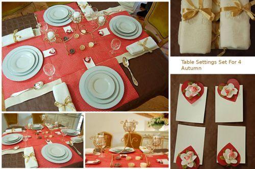 Complete Table Setting for 4 Hostess Kit Entertaining Dinner Party ...