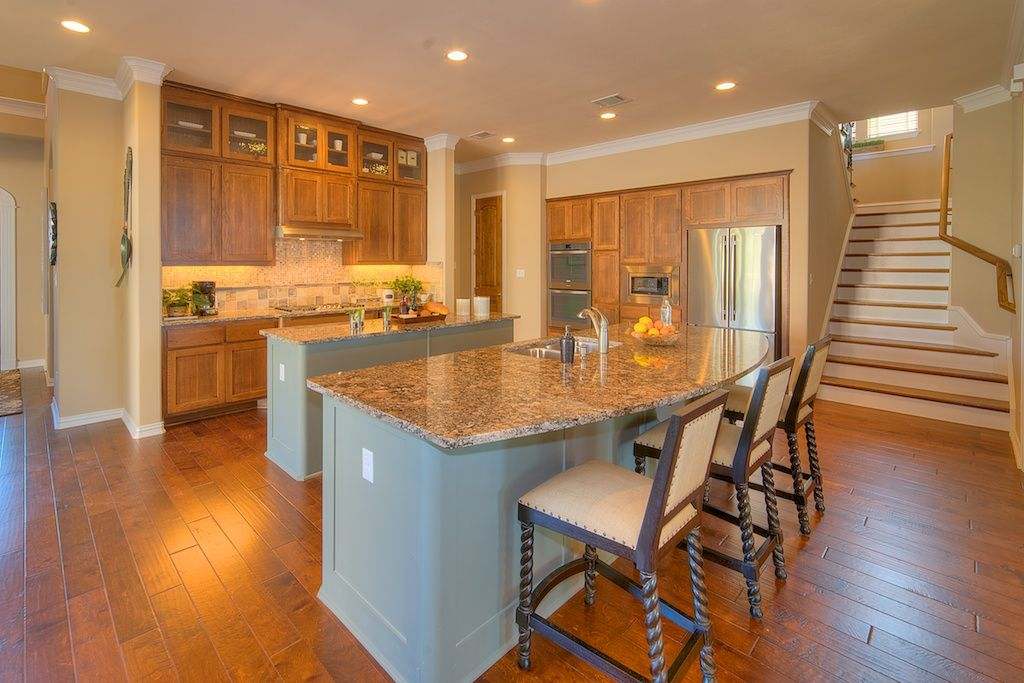 Delightful Texas Style Kitchen With Double Granite Islands! Wilshire Homes.com/austin