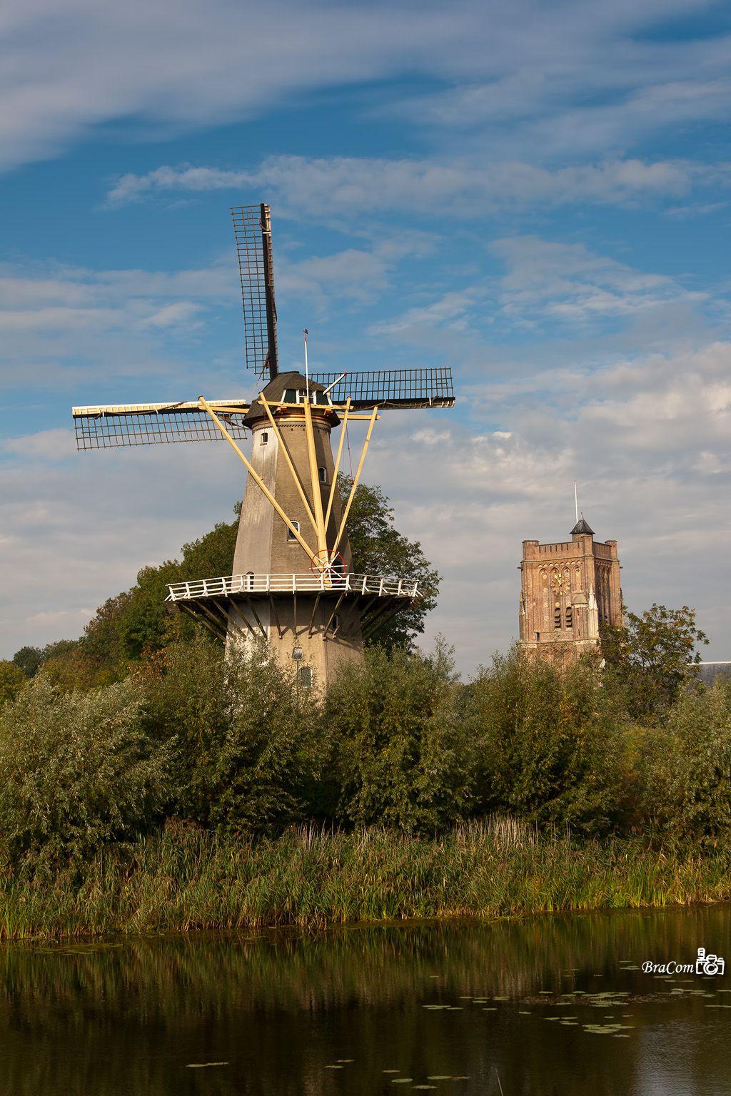 A molen in Woudrichem a village in the Nertherlands.