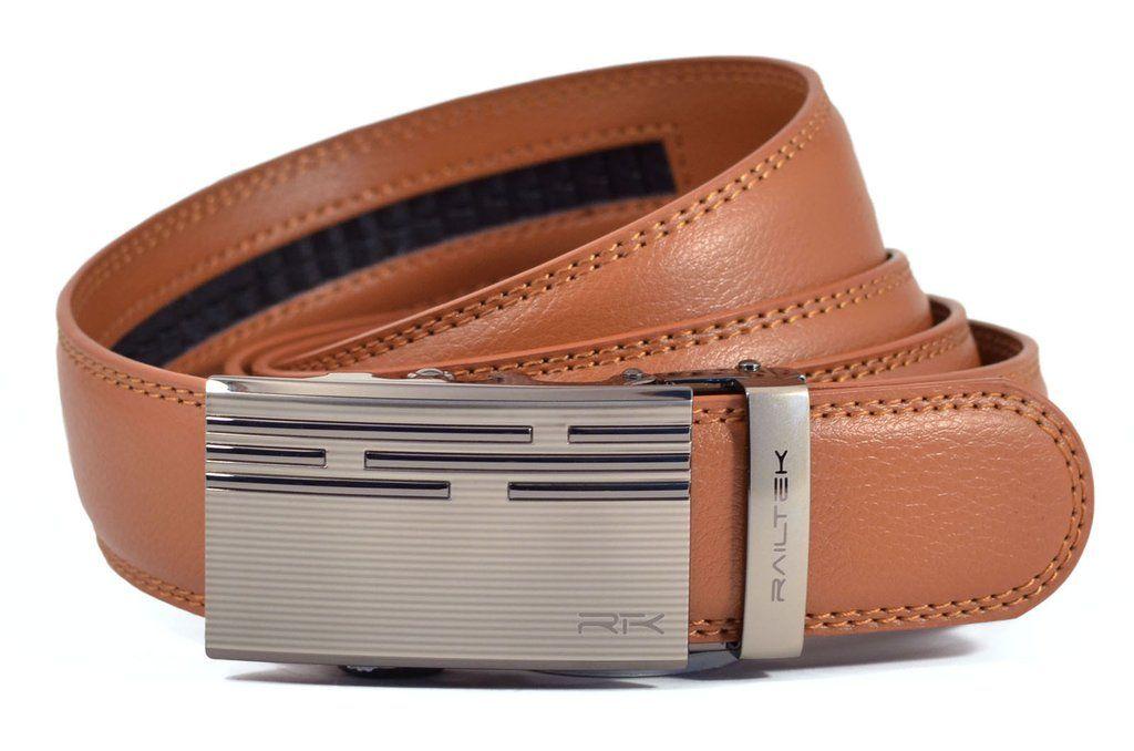 No Holes Belt From Railtek Zinc Belt Leather Zinc
