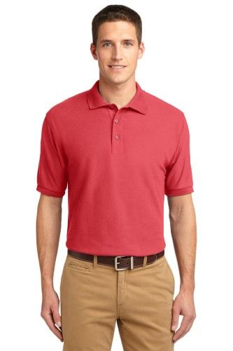 Port Authority Men's Silk Touch Polo L Hibiscus [Apparel], Size: Large, Orange