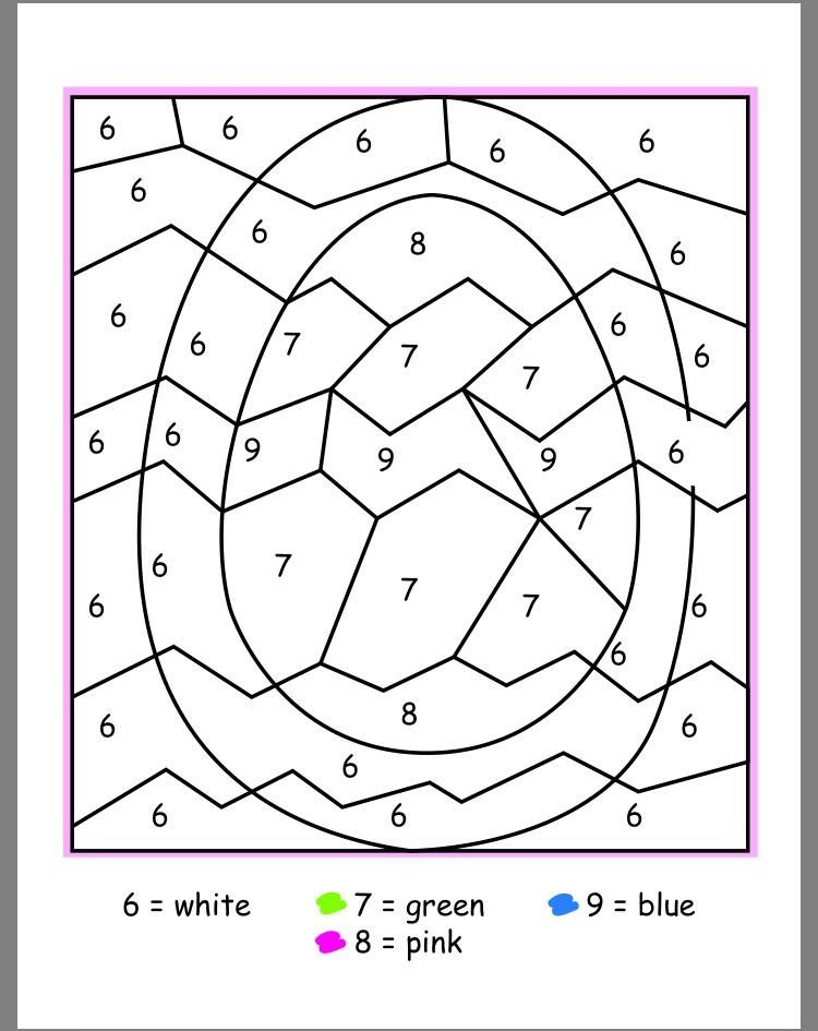 Easter Color By Numbers Best Coloring Pages For Kids Easter Coloring Pages Easter Colors Coloring Easter Eggs