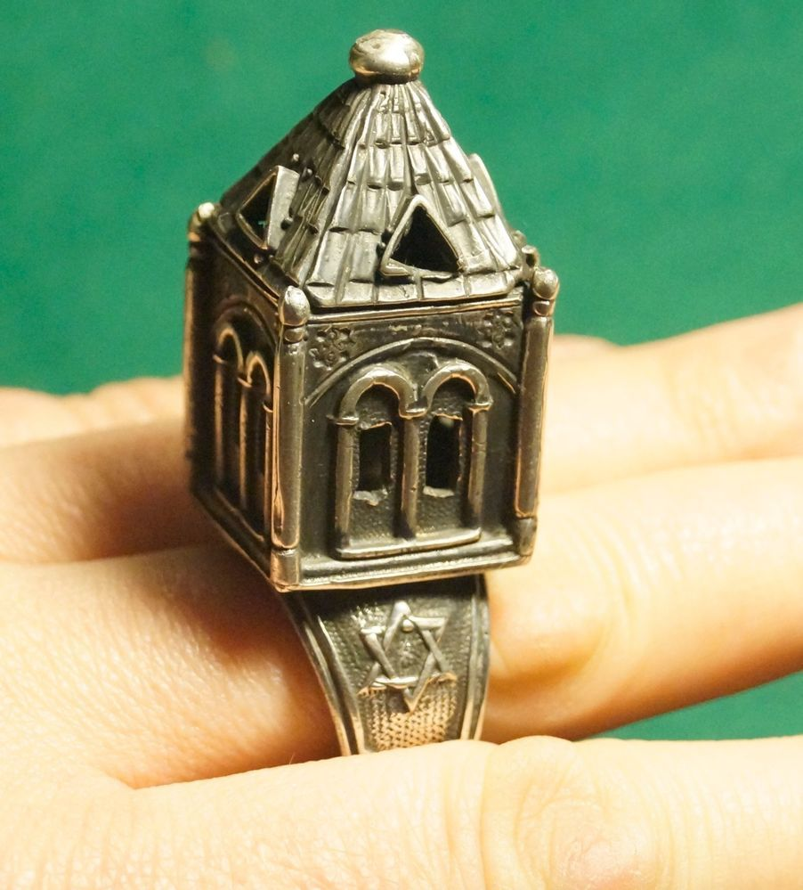 Silver Large Jewish Marriage Weeding Ring Judaica Russian
