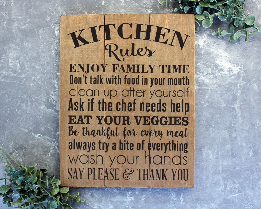 Kitchen Rules Sign | Design For Home