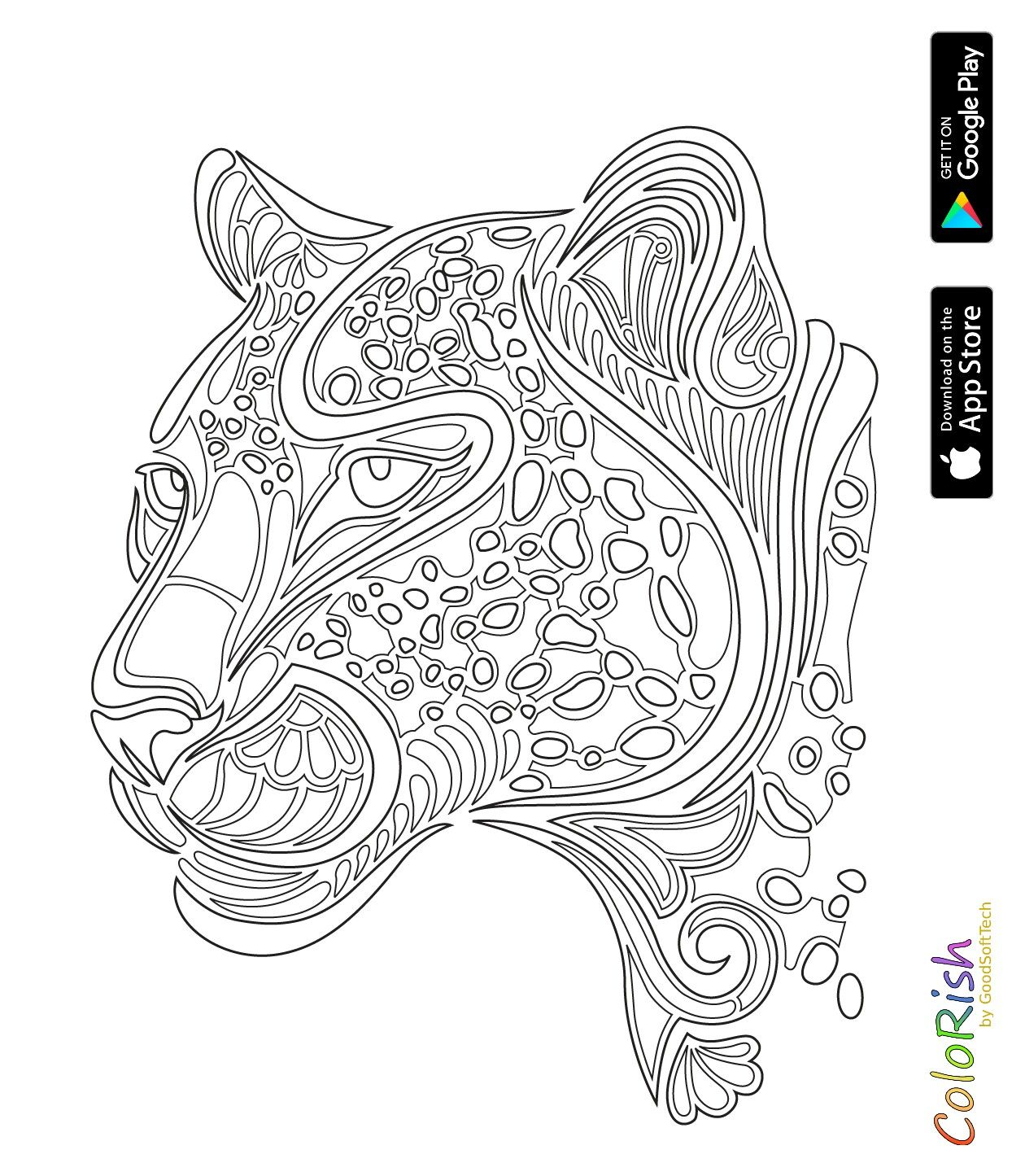 Pin By Ame Martin On Coloring Lion Tiger Cat Coloring Page Animal Stencil Coloring Pages