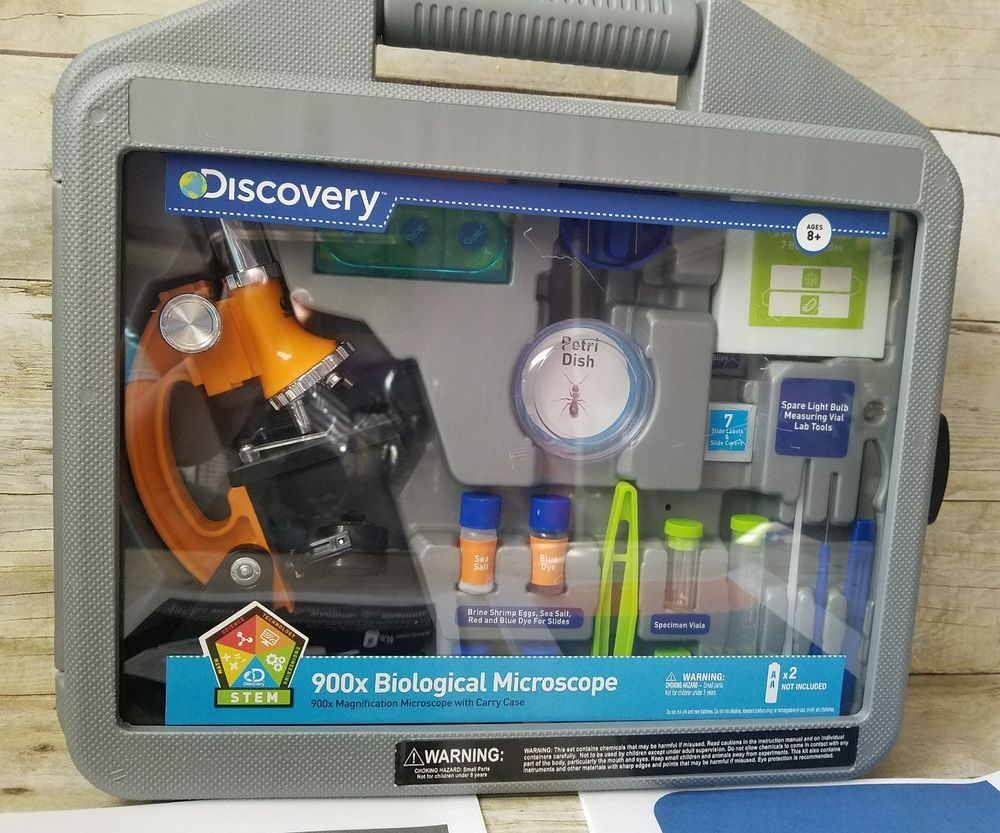 Discovery Kids 900X Microscope Biological Set Toys Science Student Childrens Kit DiscoveryToys