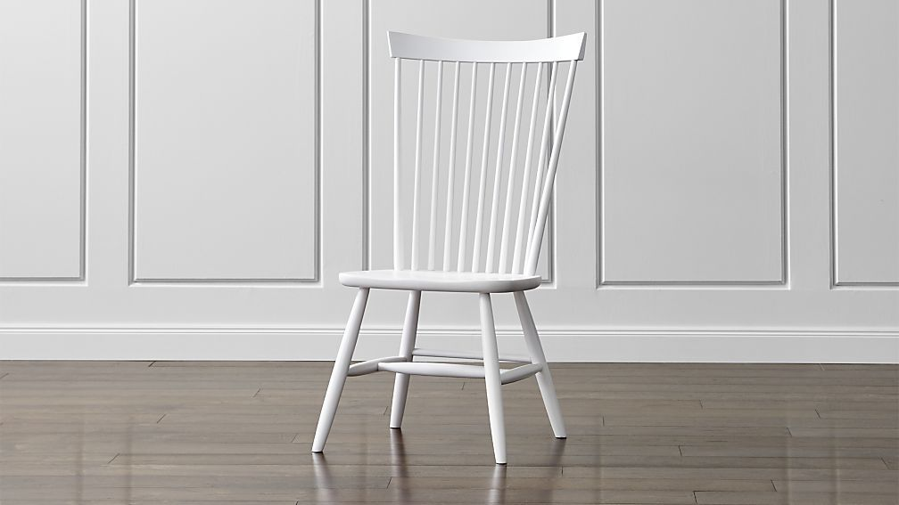 Marlow Ii White Wood Dining Chair Crate And Barrel