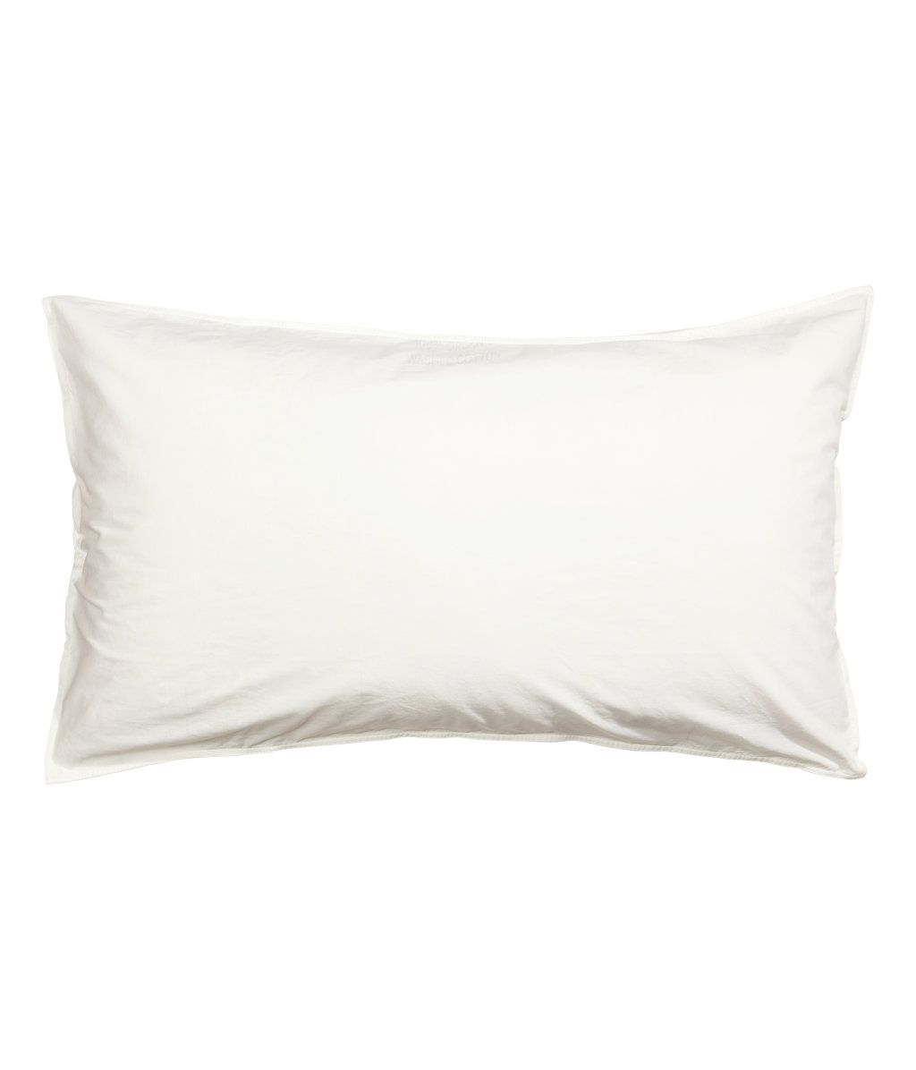 Tyynyliina pestyä puuvillaa | Valkoinen | Home | H&M FI