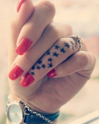 Sexy finger tattoos