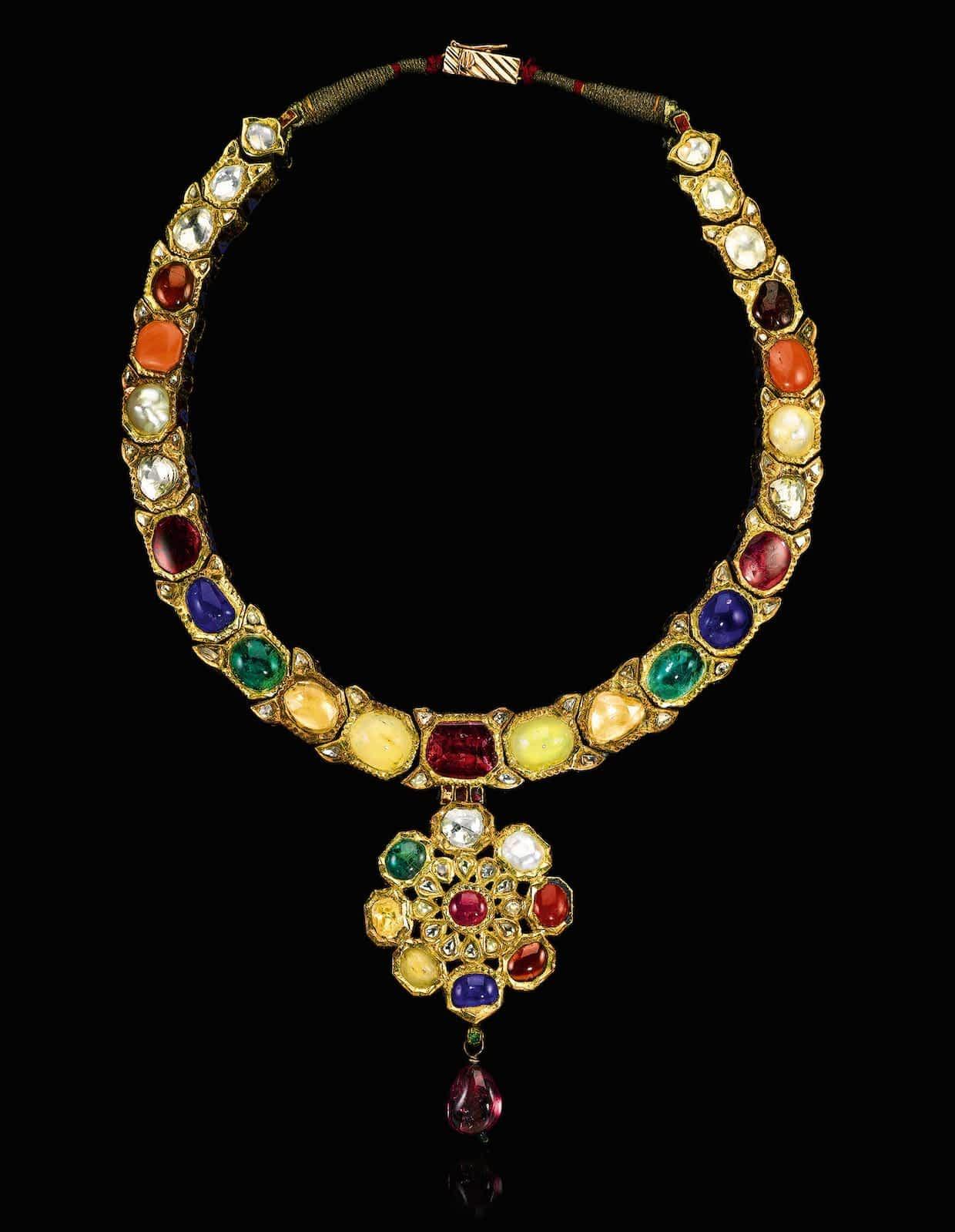Indian court jewellery gems