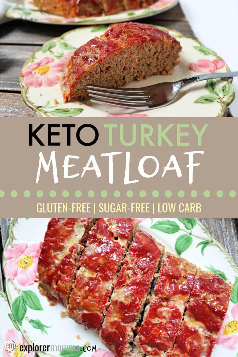 Keto Turkey Meatloaf Recipe Turkey Meatloaf Meatloaf Low Carb