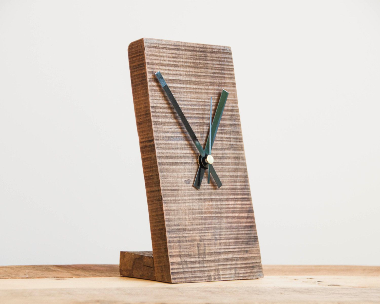 Small Wooden Clock Minimal Desk Clock Modern Table Clock